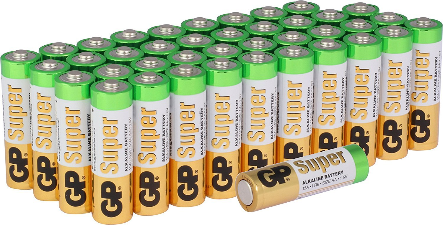 Gp Super Alkaline Batteries Aaa Bulk 40 Pack Arta Cutaway Diagram Show A Typical Cell Or Battery With Electronics