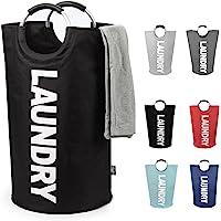 DOKEHOM DKA0001G Large Laundry Basket (6 Colors, L XL), Collapsible Fabric Laundry Hamper, Foldable Clothes Bag, Folding Washing Bin