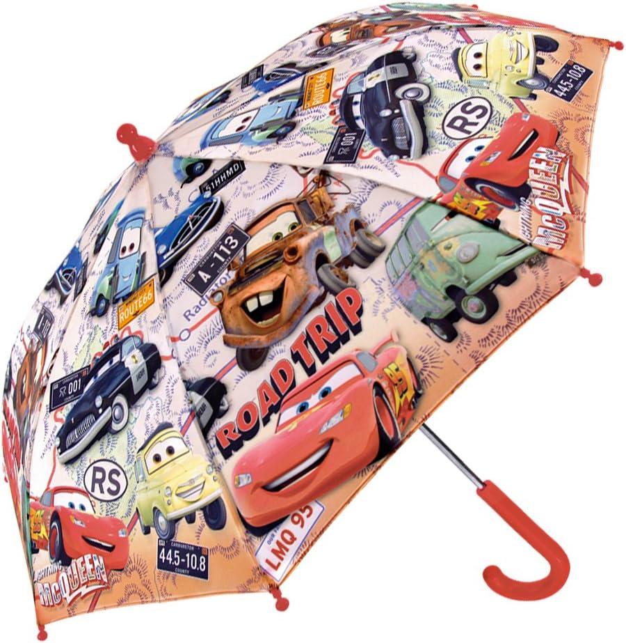 Antivent et Long Diam/ètre 76 cm 3//6 Ans Perletti Solide Ouverture de securit/é Parapluie Cars Enfant Parapluie Disney Color/é Gar/çon