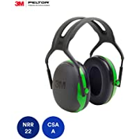 3M Peltor X-Series Over-the-Head Earmuffs, NRR 22 dB, One Size Fits Most, Black/Green X1A (Pack of 1)