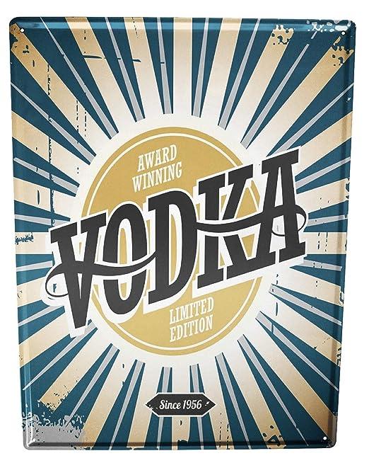 Cartel Letrero de Chapa XXL Nostalgic Alcohol Retro Vodka ...