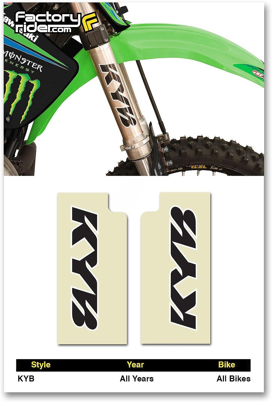 FLU Designs KYB Upper Fork Decal Black//White 01015