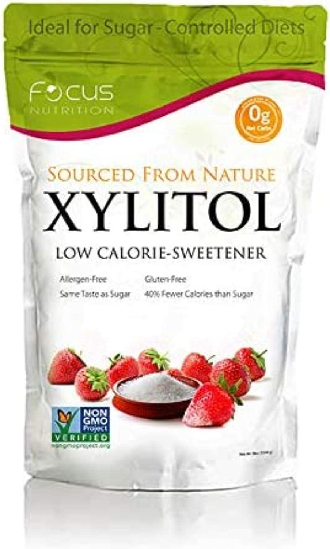 Xyloburst Sugar-Free, Non-GMO, Gluten-Free Xylitol Low Calorie Sweetener (5 Pound Bag)