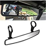 "ConPus RZR Rear View Mirror Extra Wide Panoramic 15"" Ultra Clear ATV UTV Mirror 1.75"" Clamps Convex Design Compatible with Po"