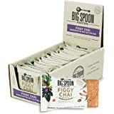 Big Spoon Roasters Figgy Chai Nut Butter Bars - Low Carb, High Protein Bars with Non-GMO Pea Protein - Energy Bars with Peanu