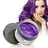 Purple Instant Hair Color Wax, Qiyuxow Temporary