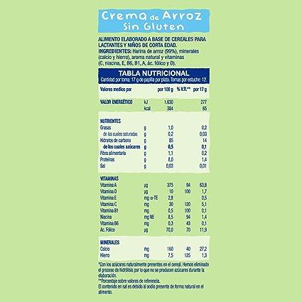 Hero Babynatur Crema de Arroz, 220g