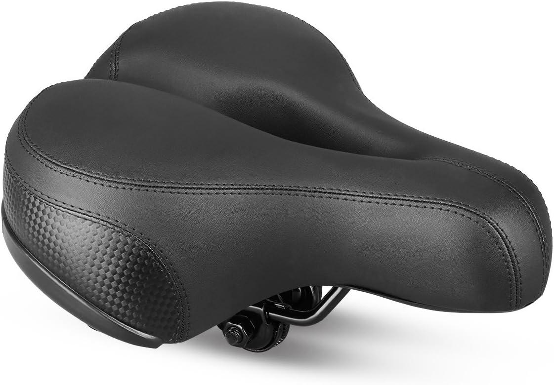 Sillín de Bicicleta, Asiento de Bicicleta Almohadilla a Prueba de Golpes, Cojín para Bicicleta de Piel Sintético Suave Adecuado para Bicicletas de Montaña
