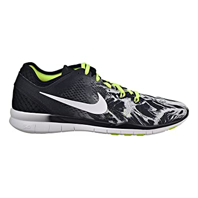 2df83cf0812c2 Nike Free 5.0 TR Fit 5 Print 704695-014 Black White Volt Women s Running  Shoes (Size 12)  Buy Online at Low Prices in India - Amazon.in
