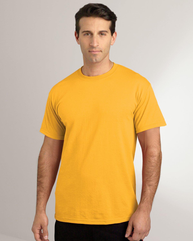 Purple Gildan Mens Wicks Moisture Short Sleeve T-Shirt XX-Large