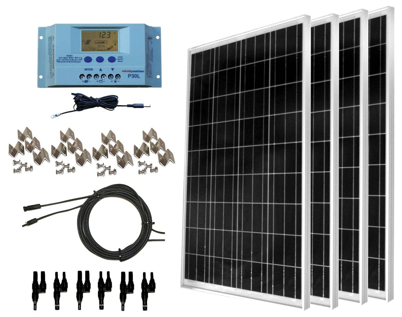 Wiring Solar Panels Series Or Parallel Windynation Community Panel Vs Amazon Com 400 Watt Kit 4pcs 100