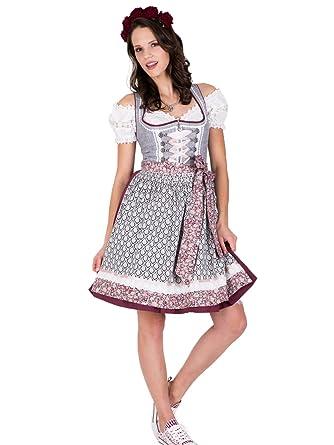 f0c96b3295756c Krüger MADL Dirndl Fashion Queen 60er Länge grau rot: Amazon.de: Bekleidung