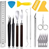 PLANTIONAL Craft Weeding Tools for Vinyl: 18 PCS Craft Basic Set Tools Kits Including Scissor, Tweezers, Weeders…