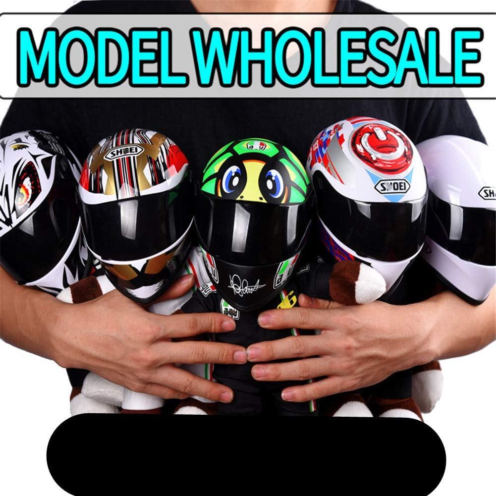 SanQing Mini Casque de Moto Ours Doll D/écoration Ornement Casque Ornement Poup/ée Jouet,Powerbutton