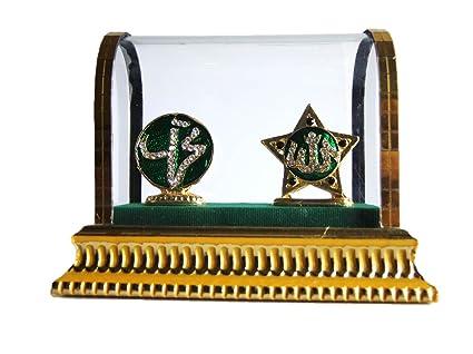 Handcrafted Miniature Islamic Symbols In Cz Stones Car Dashboard
