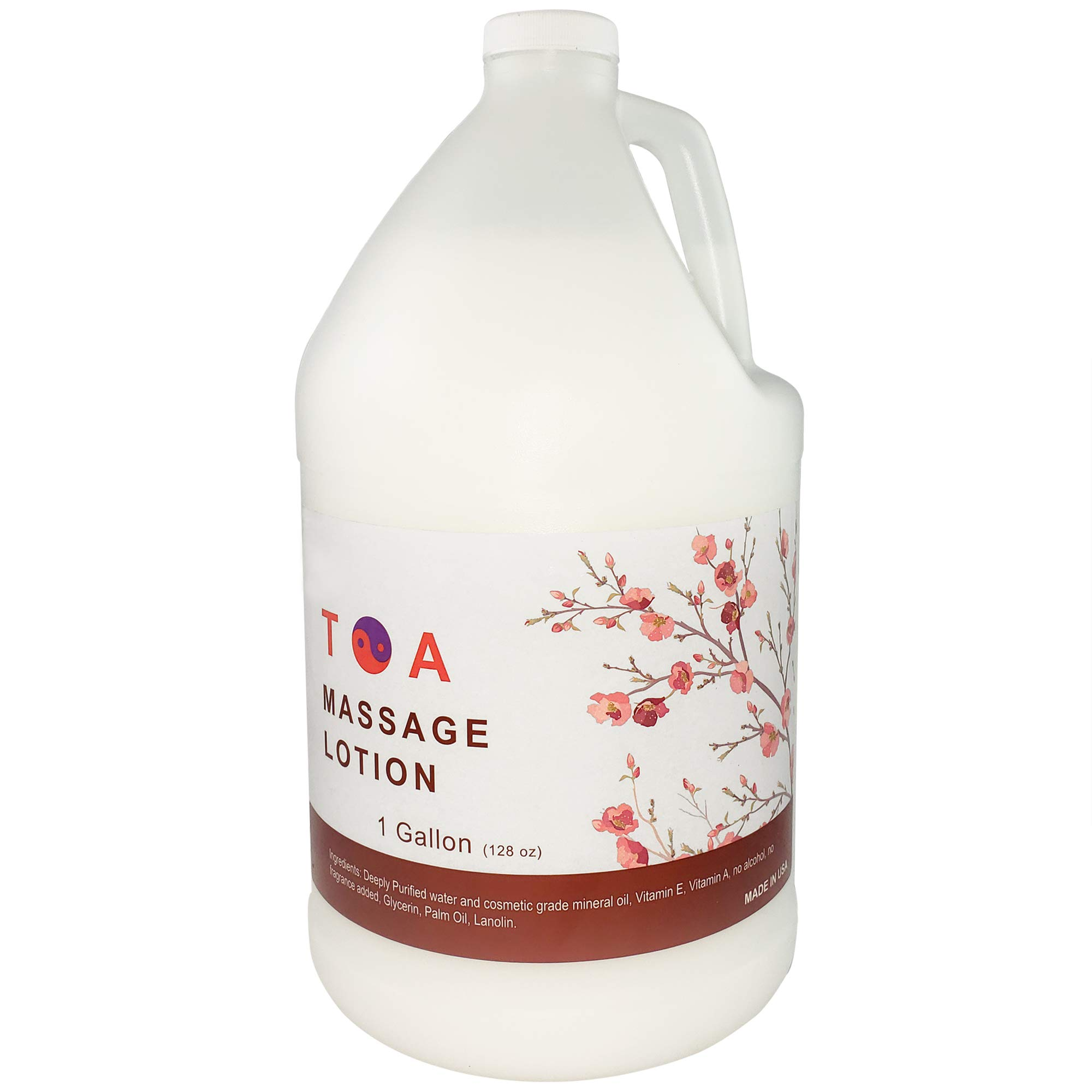 TOA Natural Massage Lotion for a Relaxing Massage Hydrating Unscented Product 1 Gallon Bottle by TOA Supply