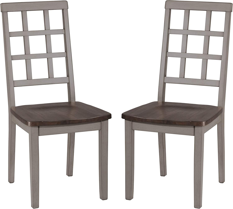 Hillsdale Furniture Hillsdale Garden Park Dining Chairs (Set of 2), Gray/Espresso