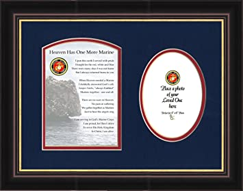 military memorial marine photo framed gift for sympathy and condolence for veterans or those who served