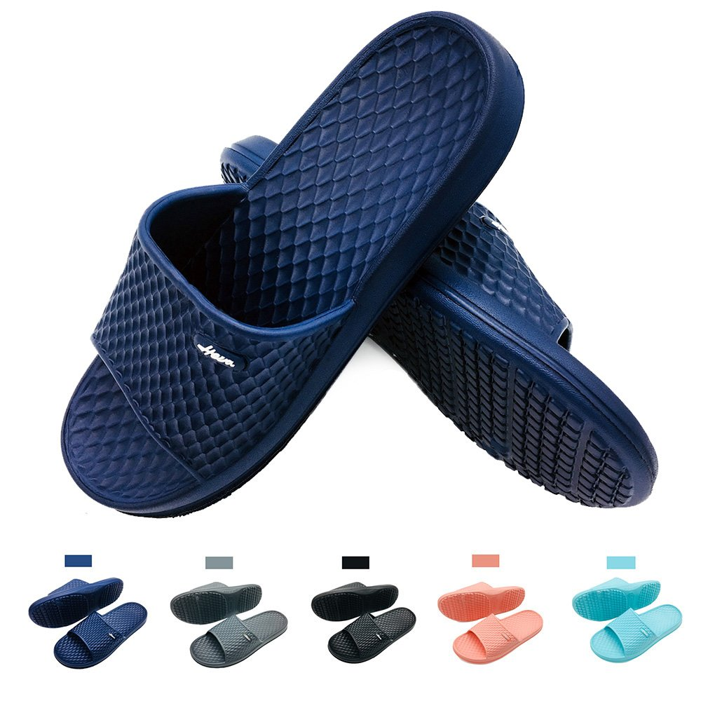 FUNKYMONKEY Bathroom Shower Sandal Mens Womens Indoor Home Beach Non Slip Slippers