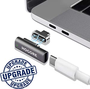 Magnetic USB C Adapter, HOGORE 20Pins MagSafe to USB C Converter Support 100W Fast Charging, 10Gbps Data Transfer, 4K Video Compatible with MacBook(Pro), Dell XPS, More Type C Laptops and Phones