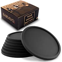 Barvivo Drink Coasters Set of 8 - Tabletop Protection for Any Table Type, Wood, Granite, Glass, Soapstone, Sandstone…