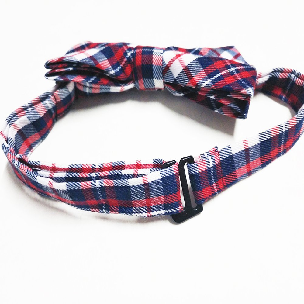 PET SHOW Plaid Dog Bow Ties Adjustable Collar Bowties for Small Dogs Puppy Cats Party Pet Collar Neckties Grooming Accessories Pack of 8 by PET SHOW (Image #3)
