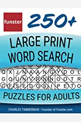 Funster 250+ Large Print Word Search Puzzles for Adults: Word Search Book for Adults Large Print with a Huge Supply of Puzzles Paperback