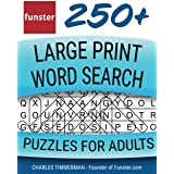 Funster 250+ Large Print Word Search Puzzles for Adults: Word Search Book for Adults Large Print with a Huge Supply of Puzzle