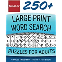 Funster 250+ Large Print Word Search Puzzles for Adults: Word Search Book for Adults Large Print with a Huge Supply of…