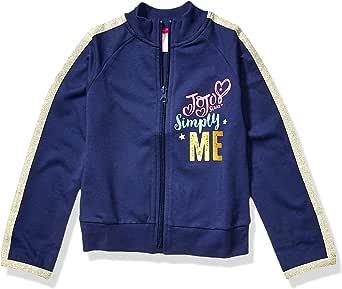 Jojo Siwa By Danskin Girls Big Long Sleeve Jacket, Gold Glitter/Classic Navy/White-40100