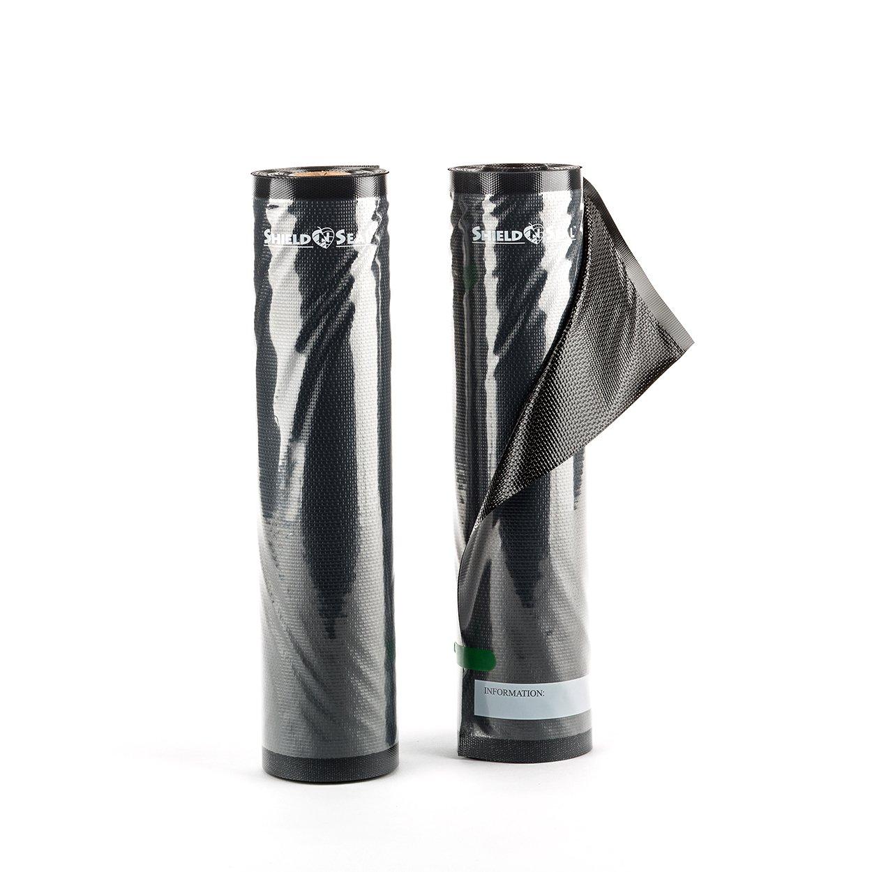 ShieldNSeal 11'' x 19.5' Clear & Black Vacuum Sealer Rolls SNS100 Food Storage Saver Heavy-Duty Bags Sous Vide