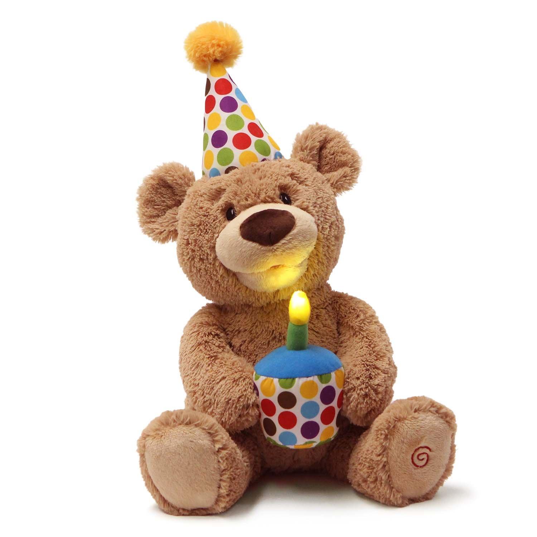 74a8e408300b3 Amazon.com  GUND Animated Happy Birthday Teddy Bear Stuffed Animal Plush