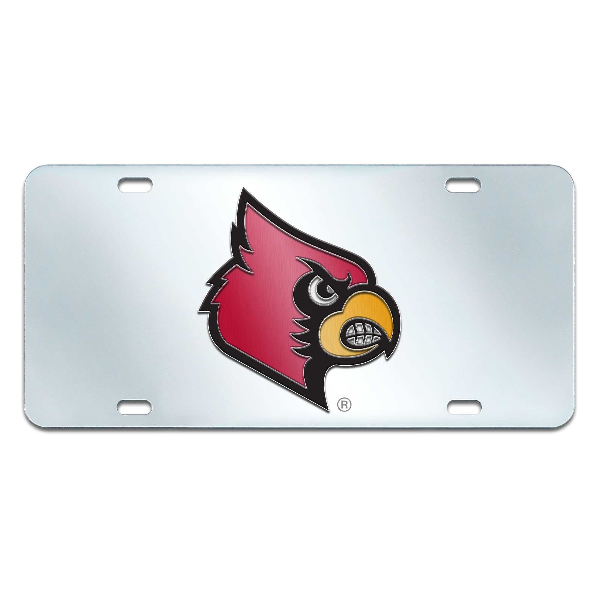 FANMATS NCAA University of Louisville Cardinals Plastic License Plate (Inlaid) by Fanmats