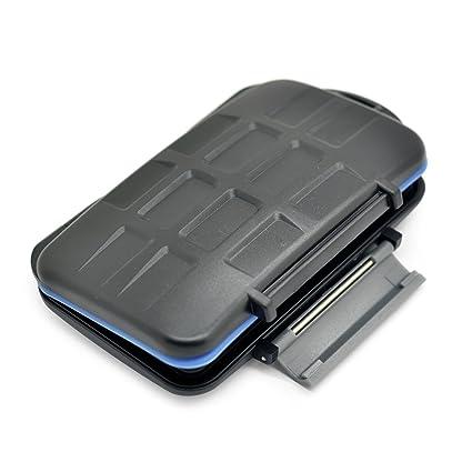 JJC MC-5 funda para tarjeta de memoria 15 tarjetas ABS sintéticos, Caucho, Silicona Negro, Azul, Verde - Fundas para tarjetas de memoria (15 tarjetas, ...