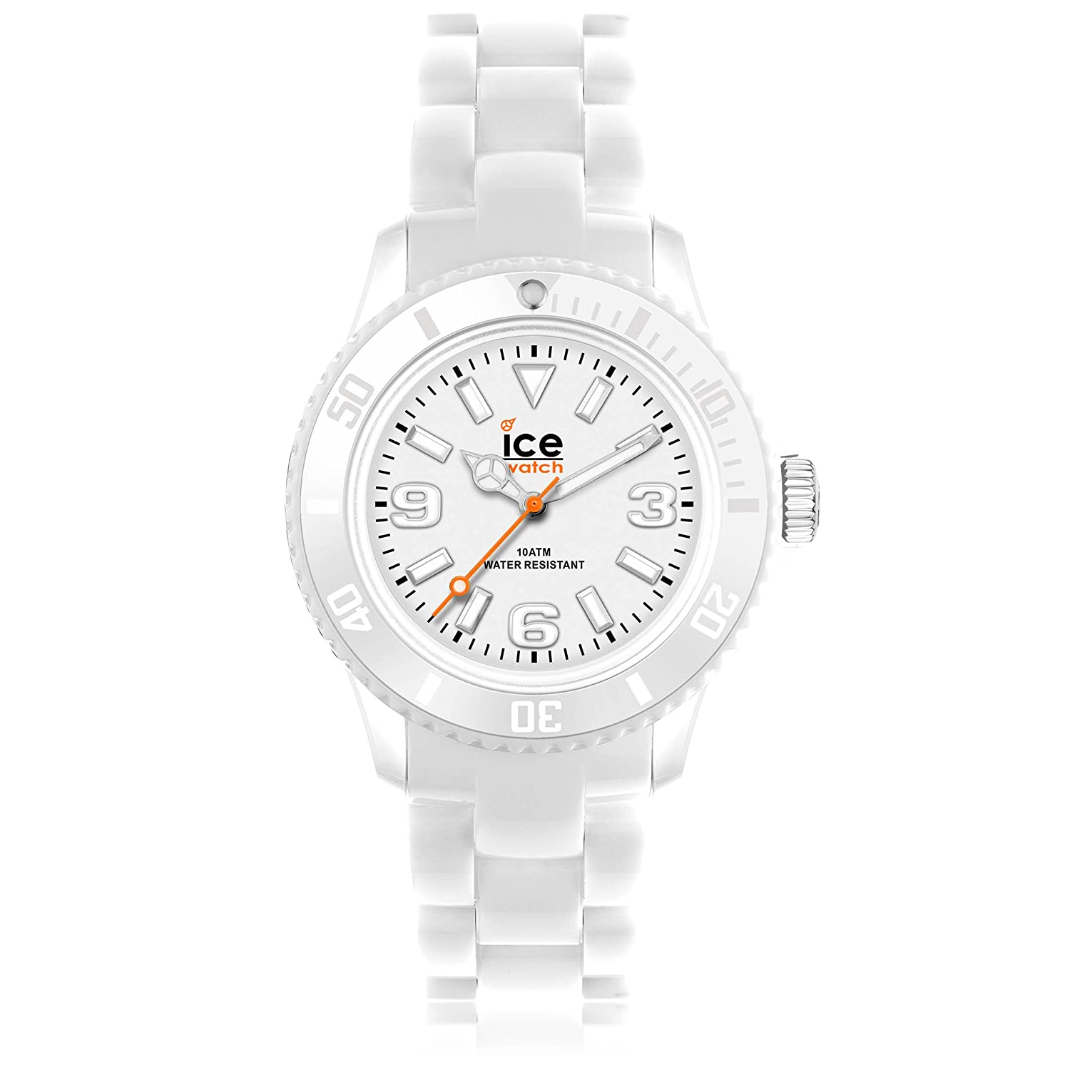 TALLA Medium. Ice-Watch - Ice Solid White - Reloj Blanco para Hombre (Unisex) con Correa de Polyamide