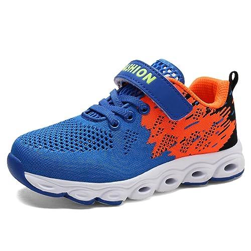 SUADEEX Unisex Niños Niña Zapatillas de Correr Zapatillas de Gimnasia Deporte Zapatillas de Trail Running: Amazon.es: Zapatos y complementos