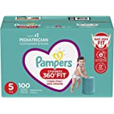 Pampers Diapers Size 5 - Cruisers 360˚ Fit Disposable Baby Diapers with Stretchy Waistband, 100 Count, Enormous Pack (Packagi