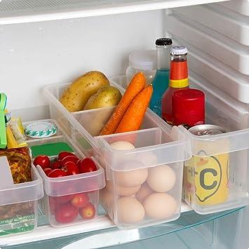 kurelle 2 unidades Nevera y congelador cajas de almacenaje ...