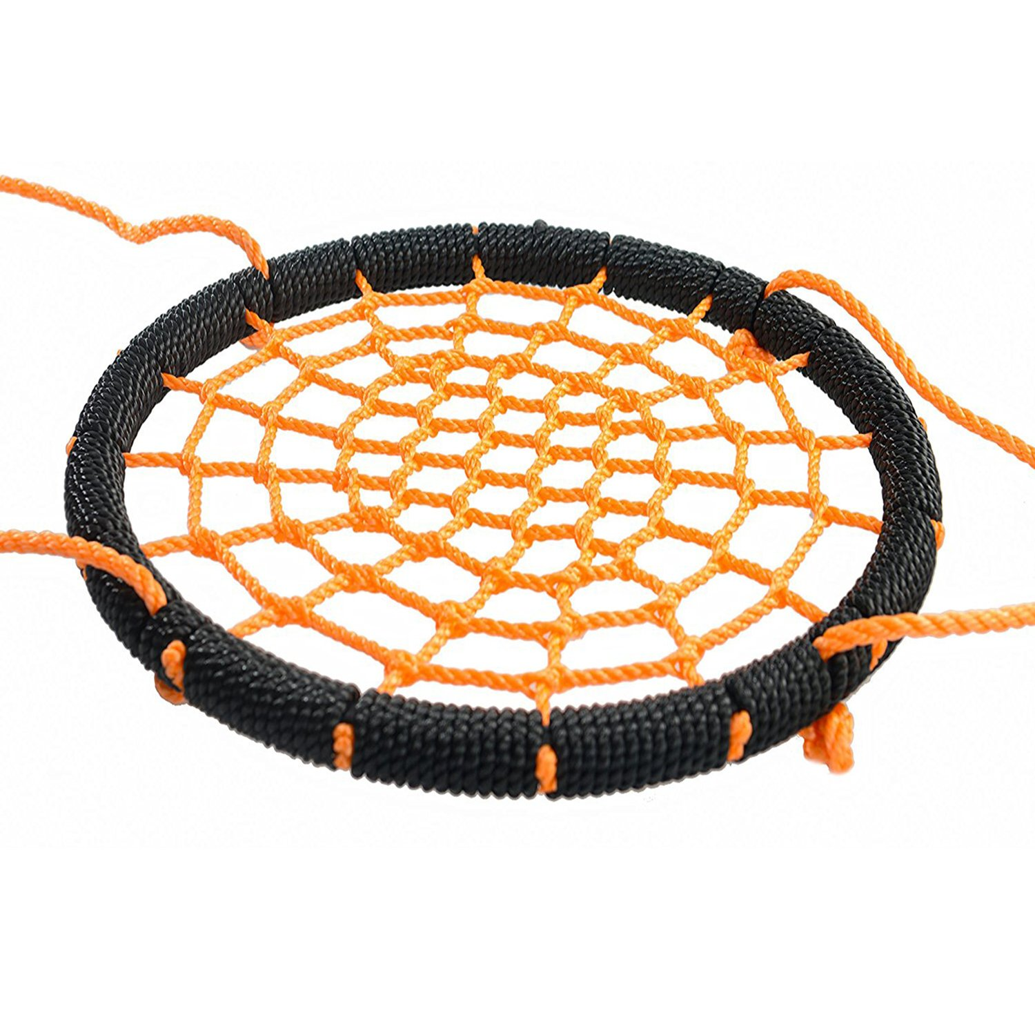 Outroad Web Swing - Great for Tree, Playground, Playroom - 24 Inch Outdoor Spider Net Swing for Kids, Orange, with 2 Extra 60 inch Hanging Straps by OUTROAD OUTDOOR CAMPING GARDEN PATIO (Image #3)