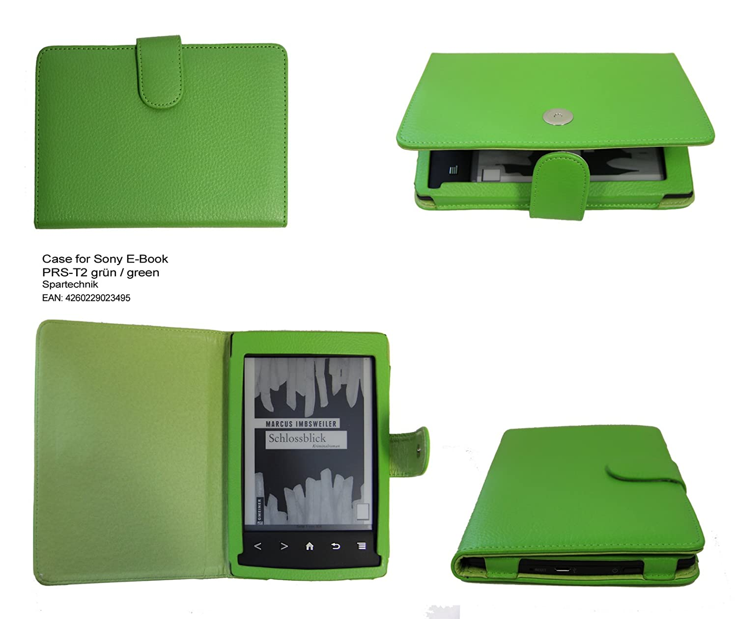 Spartechnik - Funda para e-reader Sony PRS-T2, color verde: Amazon ...