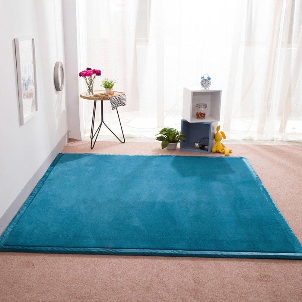 JJKB Thicken Not-slip Crawling Mat Waterproof Monochrome Baby Play Mat Childrens Carpet For Garden Living Room-a 80x200cm 31x79inch