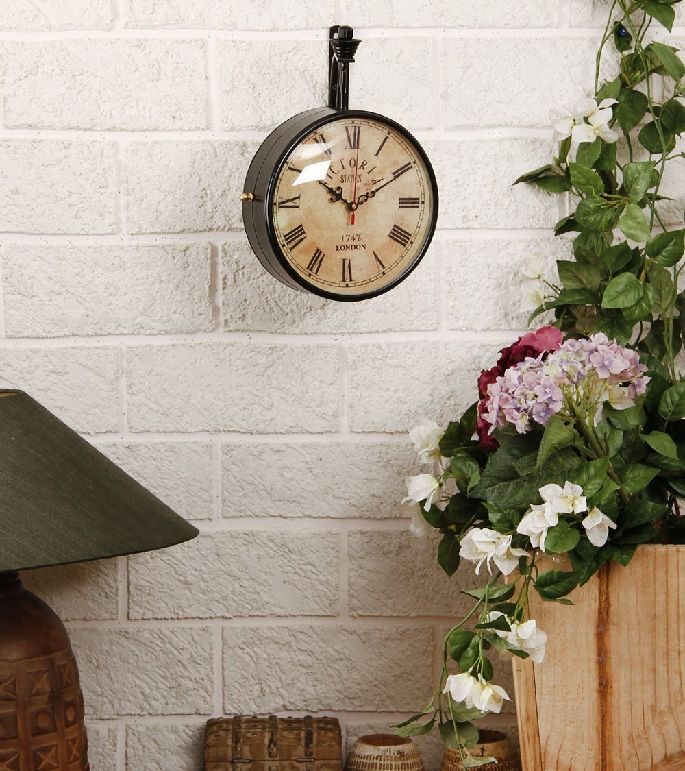 buy swagger 8 inch dial vintage double sided wall clock online at