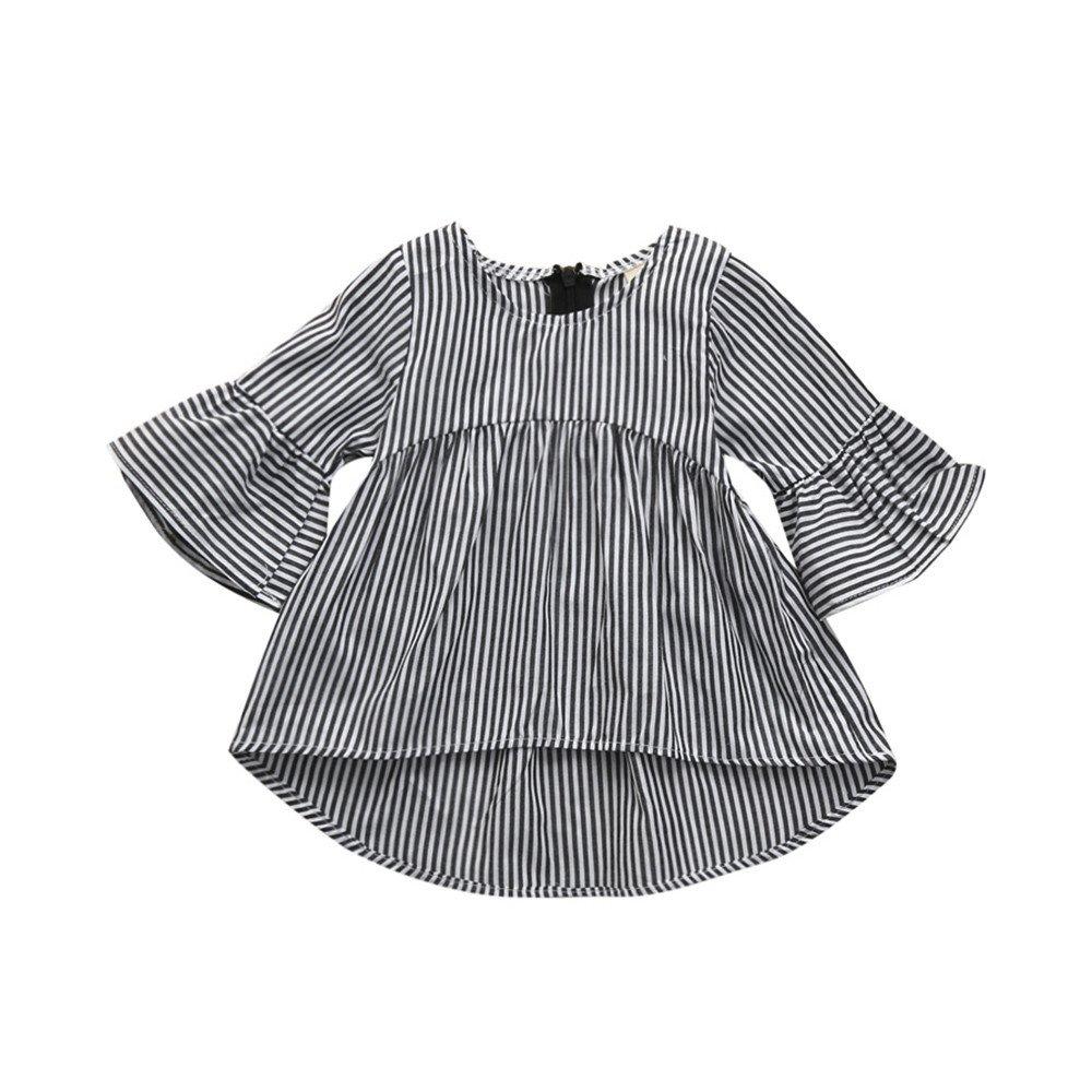 Ansenesna Baby Kleidung Mädchen 6-12 Monate Kleid Princess Baumwolle Elegant Outfit Gestreift Langarm Kleider