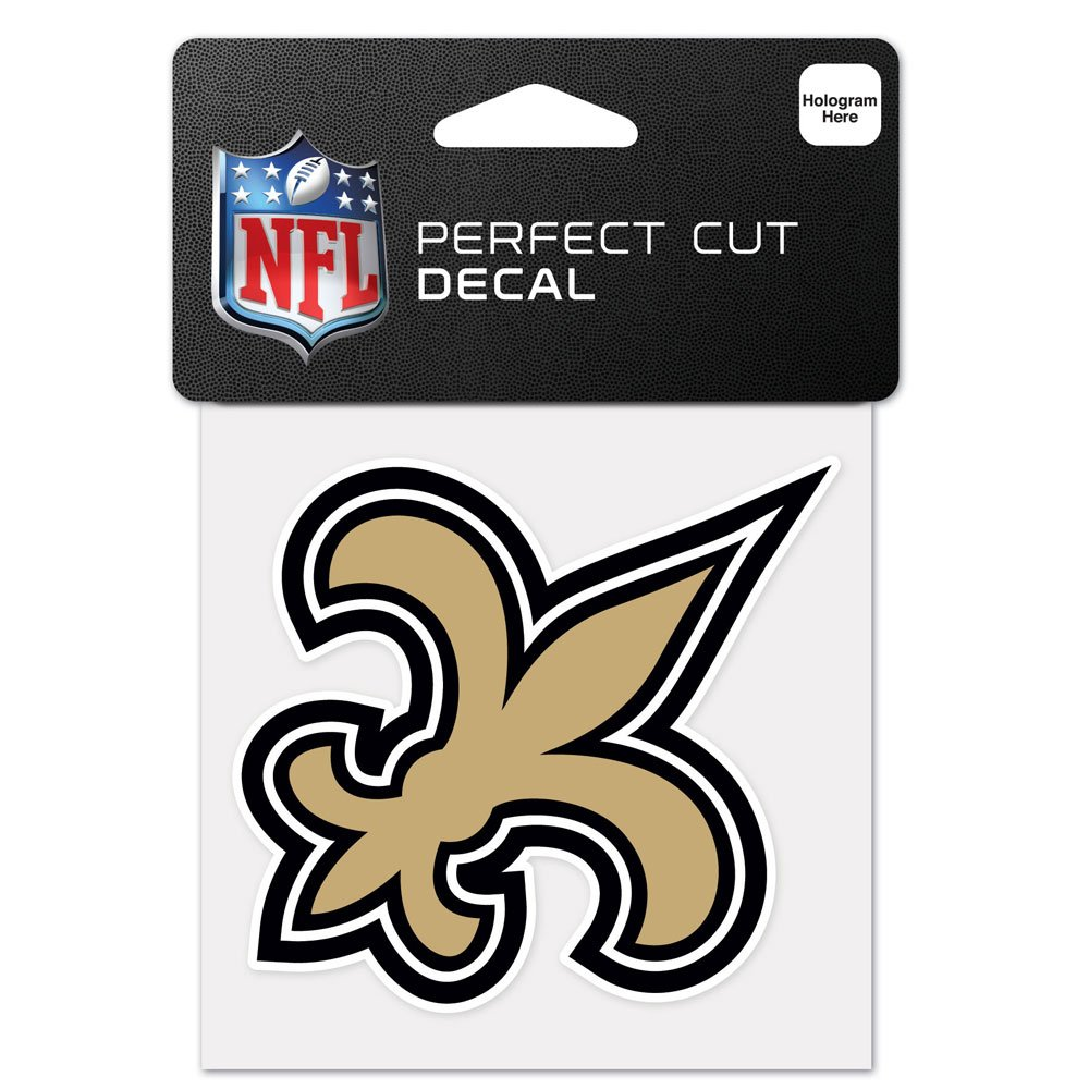 Wincraft NFL New Orleans Saints 63056011 Perfect Cut Color Decal, 4'' x 4'', Black