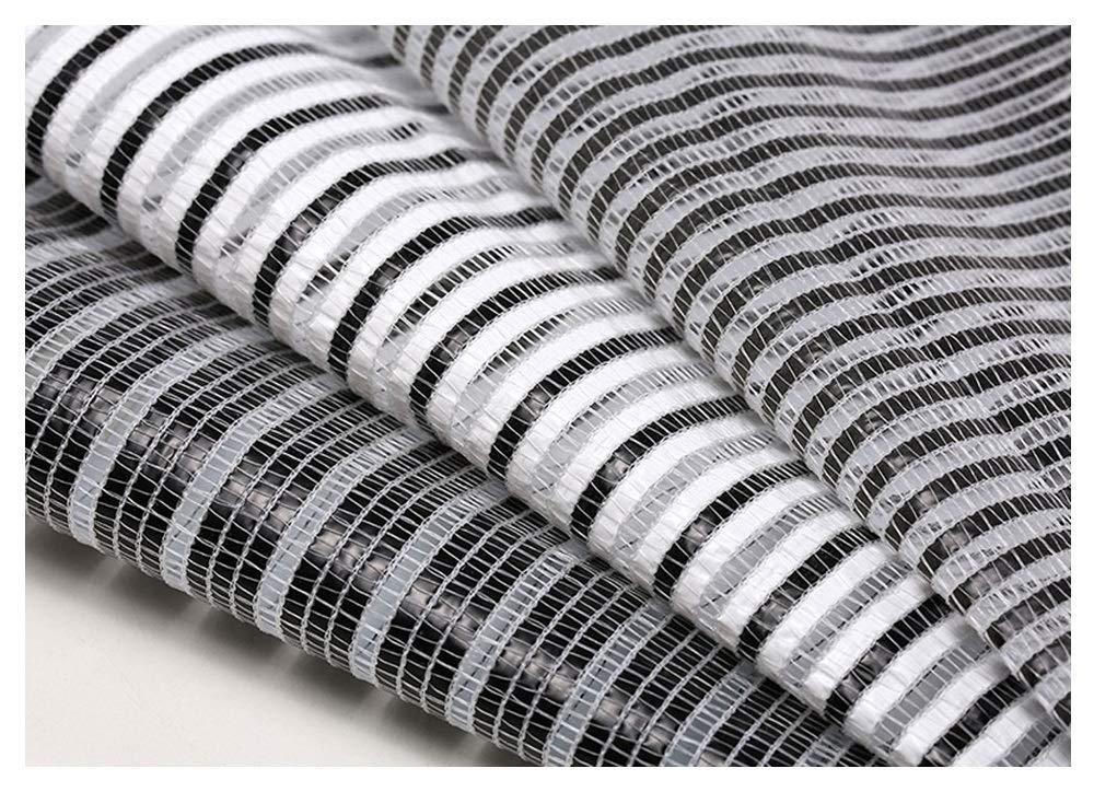 50% noir and blanc net 2.153m Filet de camouflage Filet pare-soleil Filet d'ombrage, auvents, filet solaire, filet de prougeection solaire, voiles de bÂche en toile de tente pour auvent, convient à la culture de plantes de jardin, t
