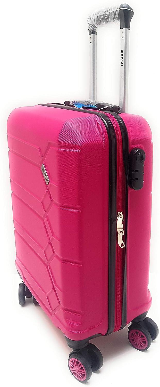 55 x 40 x 20/cm max Valise rigide /à 8 roulettes conforme aux dimensions limites en mati/ère de bagages /à main impos/ées par Ryanair - 185 argent fabriqu/ée en ABS Argent/é