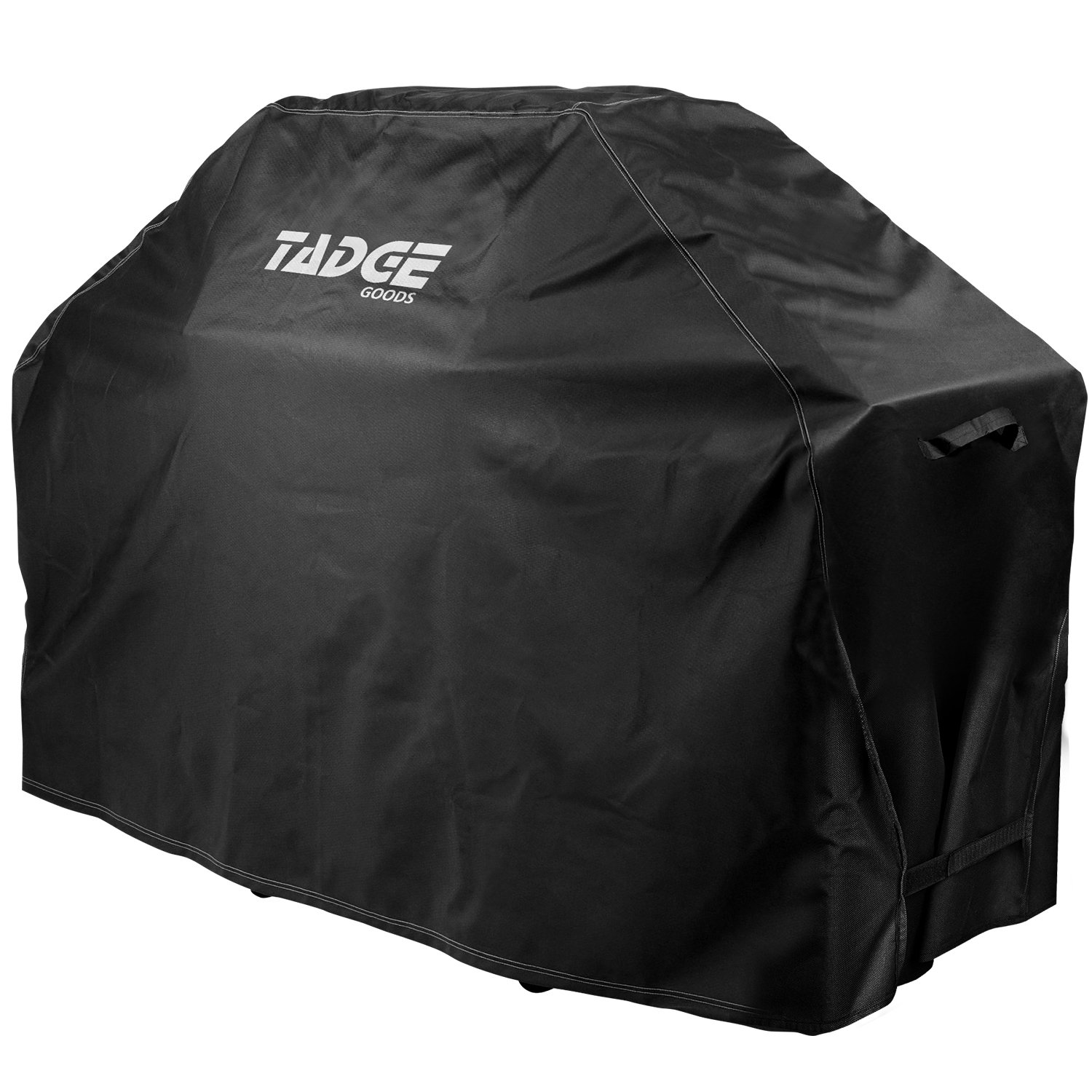 Tadge Goods BBQ Grill Cover w/Handles (58'' Black) Waterproof, Heavy Duty | Large Universal Weber Charbroil Fit with Strap Fasteners | Gas, Charcoal, Electric by Tadge Goods