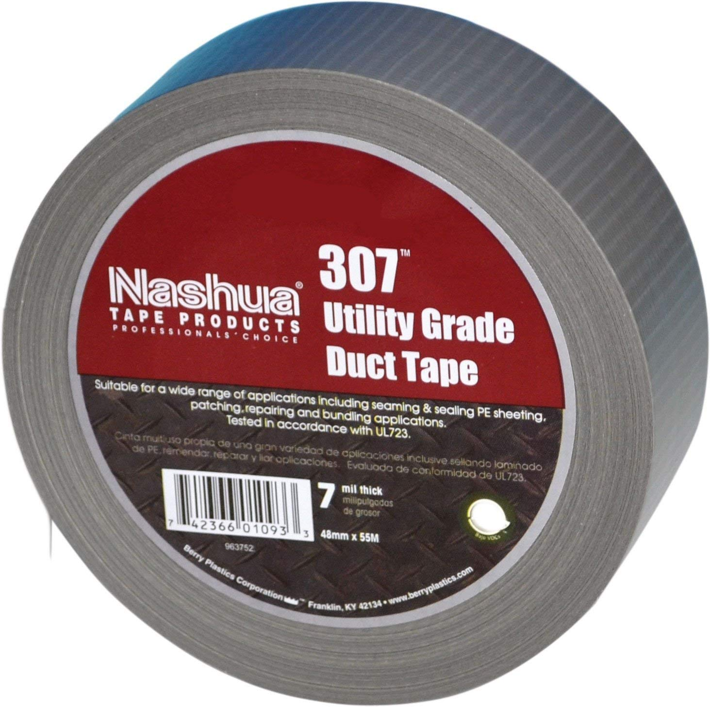 Duct Tape 2 in x 55 yd - Silver - 7 mil - 12 Pack by Nashua