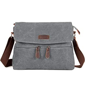 263322f99046 Amazon.com: Medium Women's Crossbody Messenger Bag FanCarry Flap Top ...