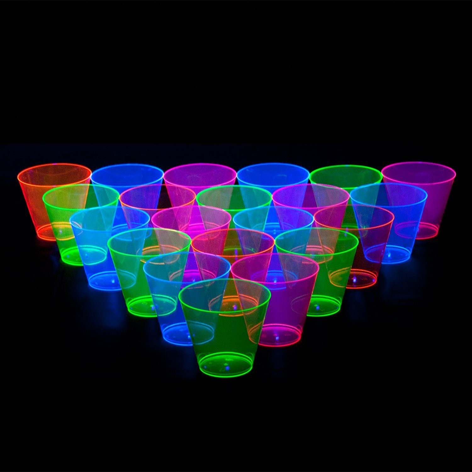 Party Essentials Hard Plastic 9-Ounce Party Cups/Old Fashioned Tumblers, 200-Count, Assorted Neon by Party Essentials (Image #5)
